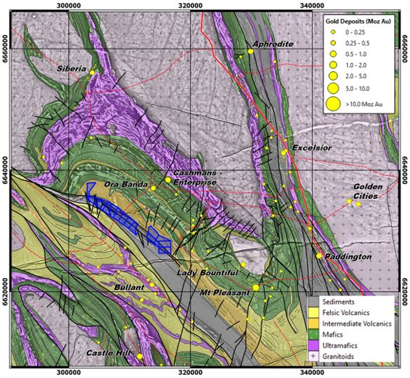 OB Tenement holdings over geology and tenure