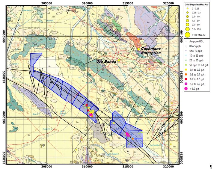 OB structural interpretation of the Carnage Shear Zone